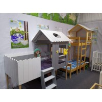 Product catalog of solid wood baby bed